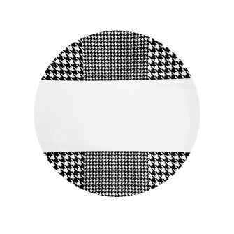 "CoupeWare Houndstooth (White/Black)  9"" Plates - 10 ct."