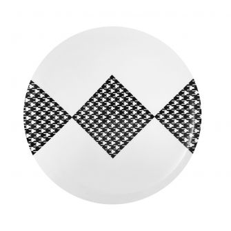 "CoupeWare Houndstooth (White/Black)  10.25"" Plates - 10 ct."
