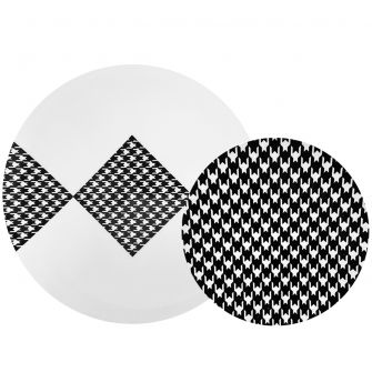 CoupeWare Houndstooth (White/Black)  Combo Plates - 32 ct.