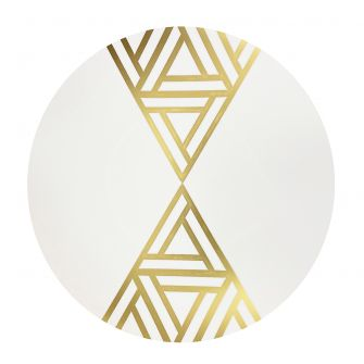 "CoupeWare Triangle Deco (White/Gold)  10.25"" Plates - 10 ct."