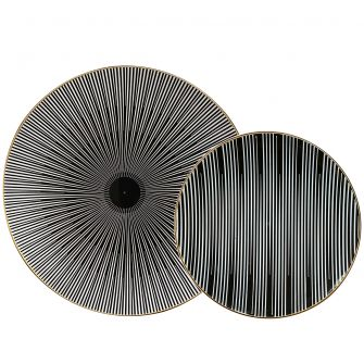 CoupeWare Monochrome (Black/White)  Combo Plates - 32 ct.