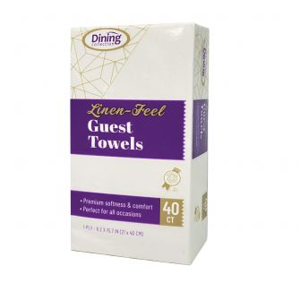 Dining Collection Linen-Feel Guest Towels - 40 Ct.