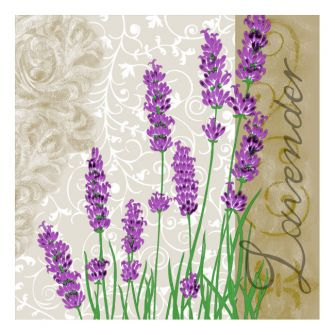 Dining Collection Lunch Napkins - Lavender - 20 ct.