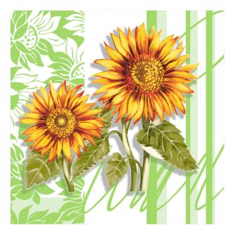 Dining Collection Lunch Napkins - Sunflower - 20 ct.