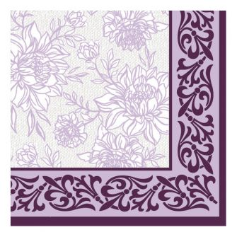Dining Collection Lunch Napkins - Purple Petal Pride - 20 ct.
