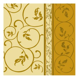 Dining Collection Lunch Napkins - Golden Curlicue 2 - 20 ct.
