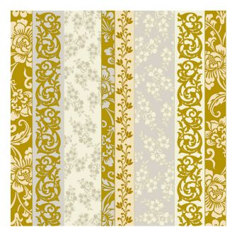 Dining Collection Lunch Napkins - Rose Gold Scrolls - 20 ct.