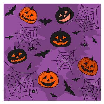 Halloween Lunch Napkins - Collage Purple - 20 ct.
