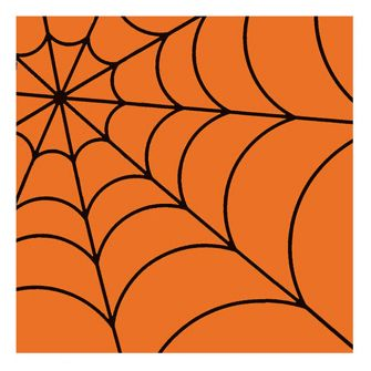 Halloween Lunch Napkins - Spider Web Orange - 20 ct.