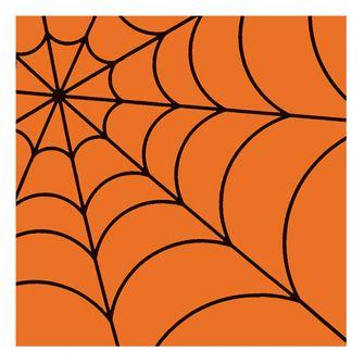 Halloween Lunch Napkins - Spider Web Orange - 20 ct.