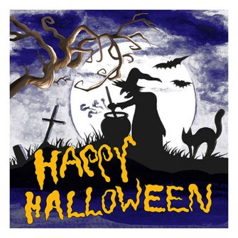 Halloween Lunch Napkins - Happy Halloween Witch - 20 ct.