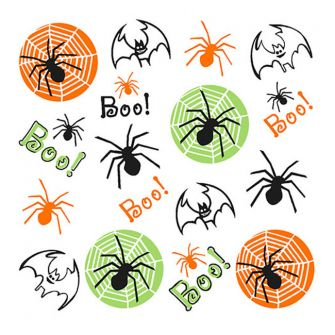 Halloween Lunch Napkins - Creepy Spiders & Bats - 20 ct.