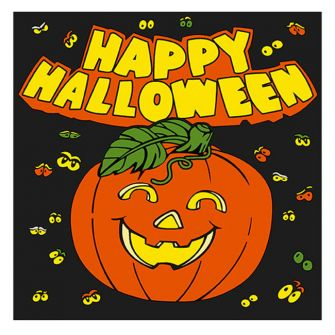 Halloween Lunch Napkins - Happy Halloween Pumpkin  - 20 ct.