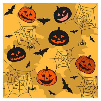 Halloween Lunch Napkins - Collage Orange - 20 ct.