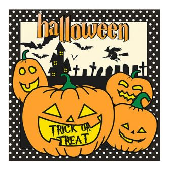Halloween Lunch Napkins - Trick or Treat Pumpkin - 20 ct.