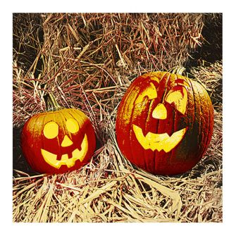 Halloween Lunch Napkins - Carved Pumpkins - 20 ct.