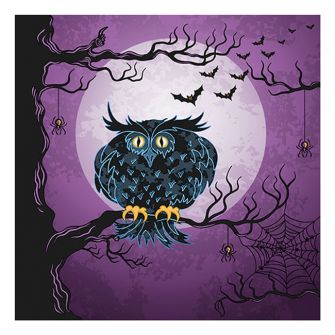 Halloween Lunch Napkins - Eerie Owl - 20 ct.
