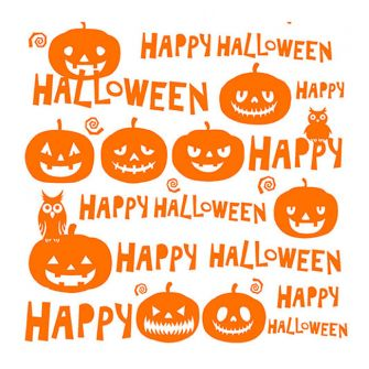 Halloween Lunch Napkins - Happy Halloween Orange - 20 ct.