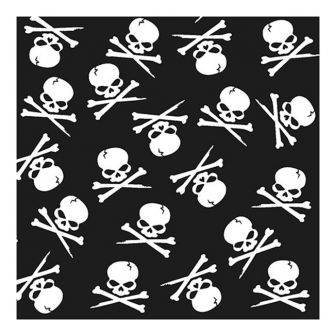 Halloween Lunch Napkins - Skull & Crossbones - 20 ct.