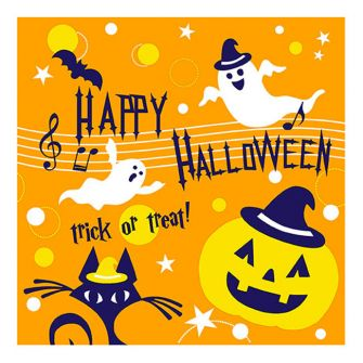 Halloween Lunch Napkins - Happy Halloween Medley - 20 ct.