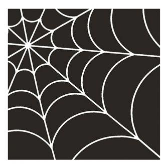 Halloween Lunch Napkins - Spider Web Black - 20 ct.