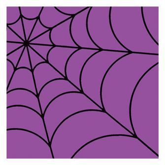 Halloween Lunch Napkins - Spider Web Purple - 20 ct.