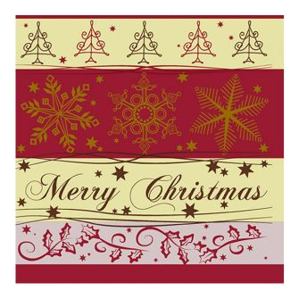 Christmas Lunch Napkins - Christmas Cheer Red - 20 ct.