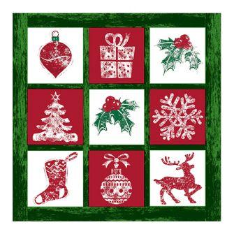 Christmas Lunch Napkins - Tis the Season Green - 20 ct.