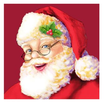 Christmas Lunch Napkins - Santa Claus - 20 ct.