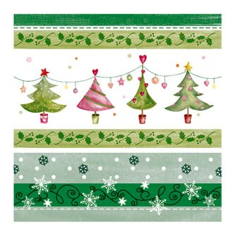 Christmas Lunch Napkins - Merry & Bright Trees - 20 ct.