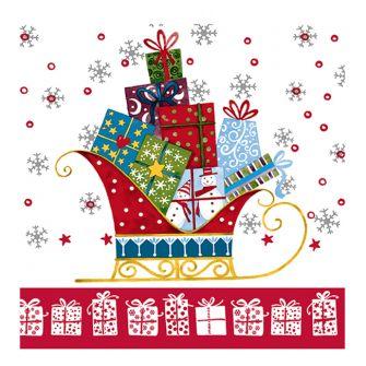 Christmas Lunch Napkins - Santa's Sleigh - 20 ct.