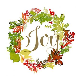 Christmas Lunch Napkins - Joy Wreath - 20 ct.