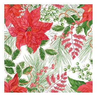 Christmas Lunch Napkins - Christmas Foliage - 20 ct.