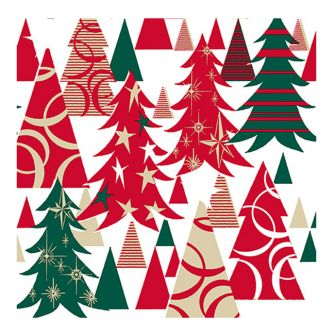 Lunch Napkins - Sparkle & Shine Trees - 20 ct.