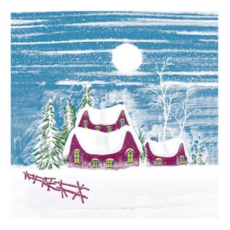 Christmas Lunch Napkins - Silent Night - 20 ct.
