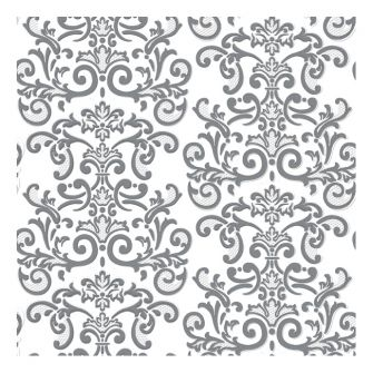 Dining Collection Lunch Napkins - Silver Damask - 20 ct.