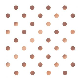 Dining Collection Lunch Napkins - Rose Gold Polka Dots - 20 ct.