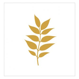 Dining Collection Lunch Napkins - Gold Leaf (White) - 20 ct.
