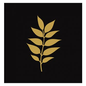 Dining Collection Lunch Napkins - Gold Leaf (Black) - 20 ct.