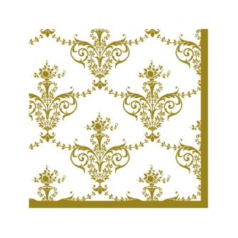 Dining Collection Cocktail Napkins - Royal Fleur-de-lis - 20 ct.