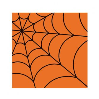 Halloween Cocktail Napkins - Spider Web Orange - 20 ct.