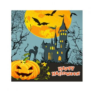 Halloween Cocktail Napkins - Haunted Castle - 20 ct.