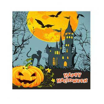 Halloween Cocktail Napkins - Haunted Castle - 20 ct.