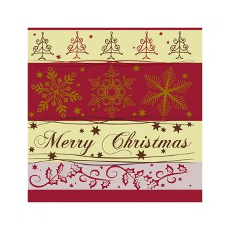 Christmas Cocktail Napkins - Cheer Red - 20 ct.