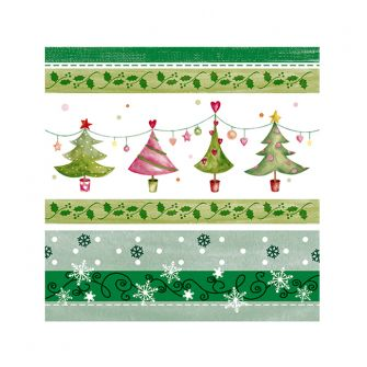 Cocktail Napkins - Merry & Bright Trees - 20 ct.