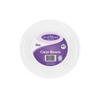 Royal Crown 5 oz. Clear Plastic Bowls - 40 Ct.