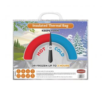 "Plastico Hot & Cold Bags (Thermal Insulated) - Small Size - 12"" x 14.8"" x 6"""