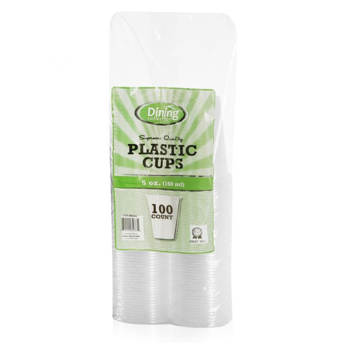 Dining Collection 5 oz. Plastic Cups - Clear - 100 ct.