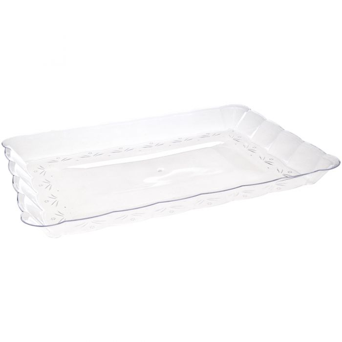 "Embellish 9"" x 13"" Serving Tray - Clear"