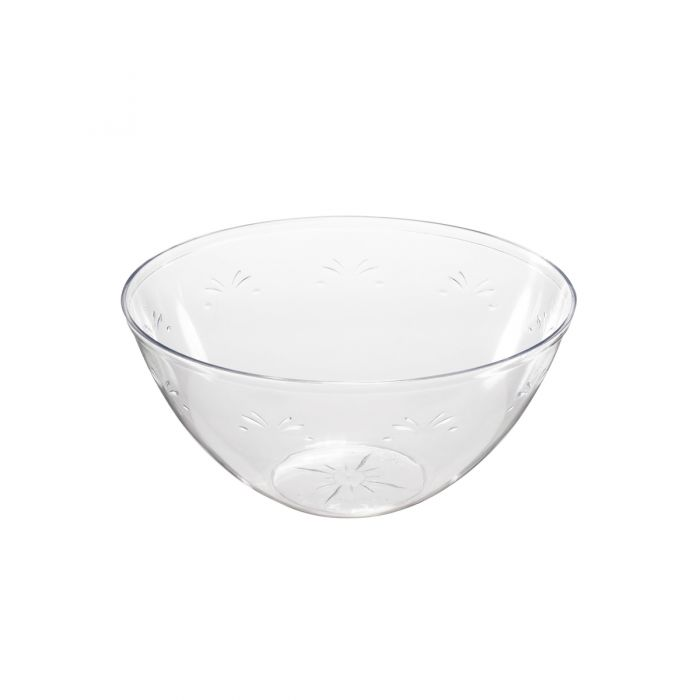 "Embellish 8"" Round Serving Bowls (48 oz.) - Clear Plastic - 50 Count"